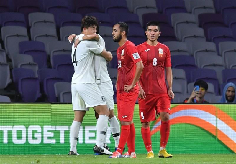 جام ملت های آسیا، پیروزی یک نیمه ای کره جنوبی مقابل قرقیزستان