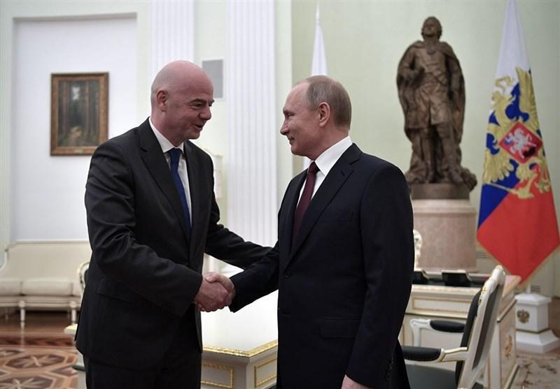 اهدای نشان دوستی روسیه توسط ولادیمیر پوتین به جانی اینفانتینو