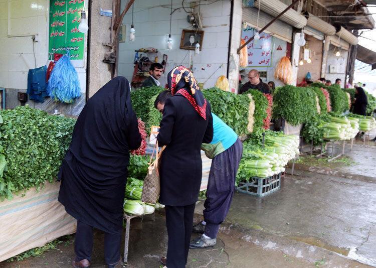 سبزی های آلوده در شهر
