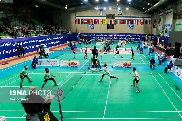 رقابت خارجی هابرای قهرمانی در بدمینتون جام فجر، ایران در دو نفره صاحب مدال می گردد