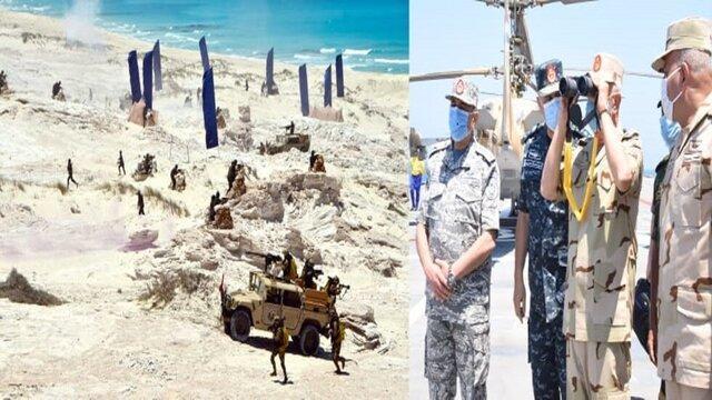رزمایش های ارتش مصر در مرزهای مشترک با لیبی