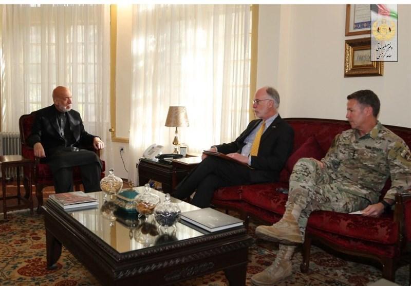 رایزنی های ژنرال میلر و سفارت آمریکا با کرزی درباره صلح افغانستان