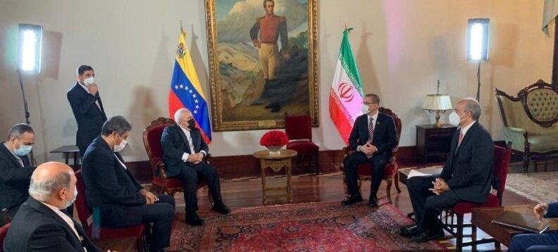 ظریف با همتای ونزوئلایی خود دیدار کرد، عکس